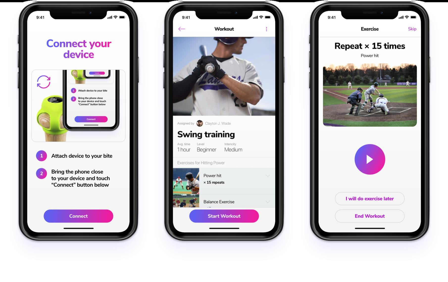 Mobile UI baseball